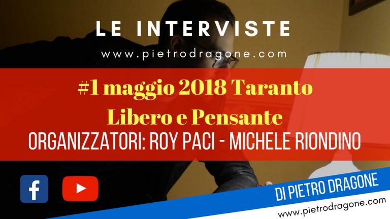 Roy Paci e Michele Riondino al 1 maggio di Taranto