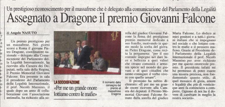 Ad un anno dal Premio Memorial G. Falcone